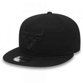Kšiltovka New Era 950 NBA Chicago Bulls Black On Black