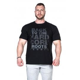 NEBBIA Pánské triko HardCore TOP 391 - černé