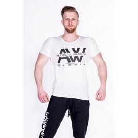 NEBBIA Pánské triko AW TOP 127 - bílé
