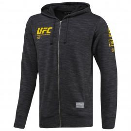 Pánská mikina REEBOK UFC ULTIMATE FAN ZIP - černo/šedá