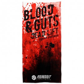 Ručník POUNDOUT do posilovny BLOOD & GUTS 70 x 140 cm