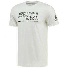 REEBOK Pánské tričko UFC ULTIMATE FAN GRAPHIC - Bílé