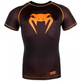 Kompresní triko VENUM CONTENDER 3.0 - černo/NEO oranžový