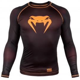Kompresní triko VENUM CONTENDER 3.0 dl.rukáv - černo/NEO oranžový