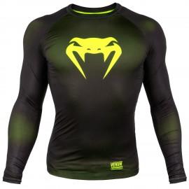 Kompresní triko VENUM CONTENDER 3.0 dl.rukáv - černo/NEO žlutý