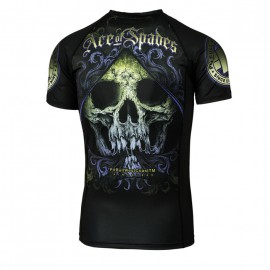PitBull West Coast Rashguard ACE OF SPADES - černý