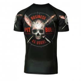 PitBull West Coast Rashguard BUSINESS AS USUAL  - černý