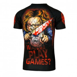 PitBull West Coast Rashguard  WANNA PLAY GAMES  - černý