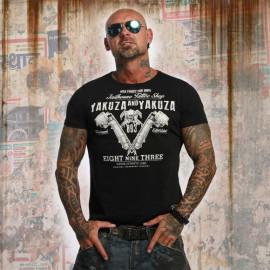 Pánské tričko YAKUZA Tattoo Shop TSB 10009 - černé