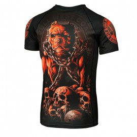 PitBull West Coast Rashguard SKULL DOG  - černý