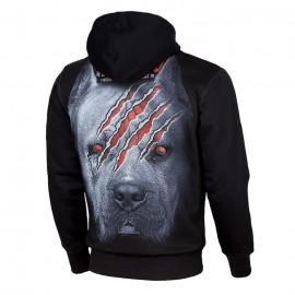 PitBull West Coast Mikina WANNA  GRIM DOG s kapucí - černá