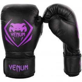 Boxerské rukavice VENUM Contender - černo/fialové