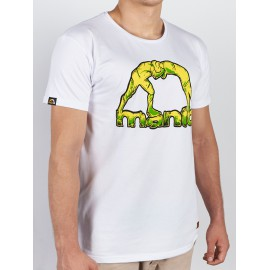 Manto tričko STONE - bílé