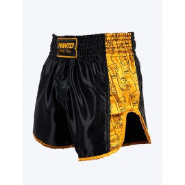 Trenýrky Manto MUAY THAI FISTS - černo/žluté