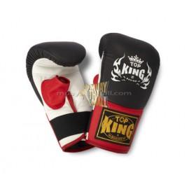 Pytlové rukavice Top King černočervenobílé