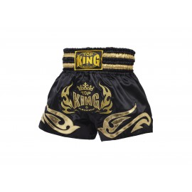 Thai trenýrky TOP KING LOGO černozlaté