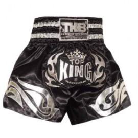 Thai trenýrky TOP KING LOGO černostříbrné