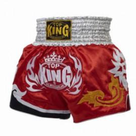 Thai trenýrky TOP KING LOGO červenostříbrné