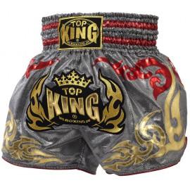 Thai trenýrky TOP KING LOGO stříbrnočervené