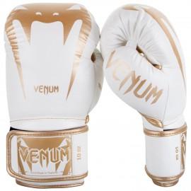 Boxerské rukavice VENUM GIANT 3.0 kůže - bílo/zlaté