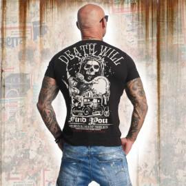 Pánské tričko YAKUZA DEAD WILL FIND YOU TSB 11050 - černé