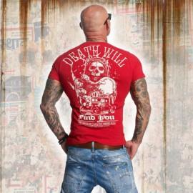 Pánské tričko YAKUZA DEAD WILL FIND YOU TSB 11050 - červené