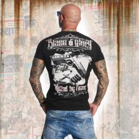 Pánské tričko YAKUZA BLAZED N GLORY TSB 11034 - černé