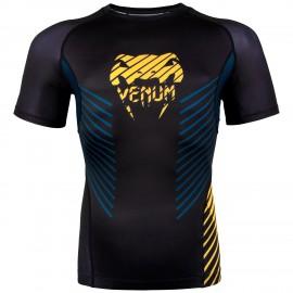 Rashguard VENUM PLASMA  Kr. rukáv - černo/žlutý