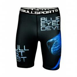 PitBull West Coast Kompresní šortky BED X - černé