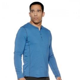 Thermal tričko JACO Henley - Modré