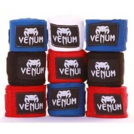 Boxerské bandáže značky VENUM - 2,5 m - Bílé