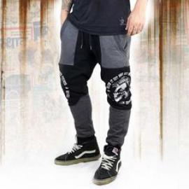 Tepláky pánské Yakuza PUNX TWO FACE Anti Fit job 11030 black