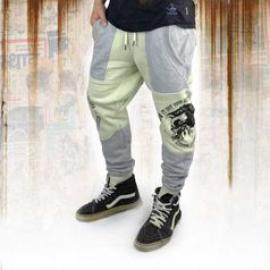 Tepláky pánské Yakuza PUNX TWO FACE Anti Fit job 11030 bone white