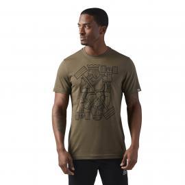 REEBOK Pánské tričko KING OF TRAINING GRAPHIC - zelené