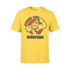 NINTENDO Pánské triko Strong Donkey - žluté