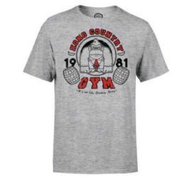 NINTENDO Pánské triko Kong Country Gym - šedébílé