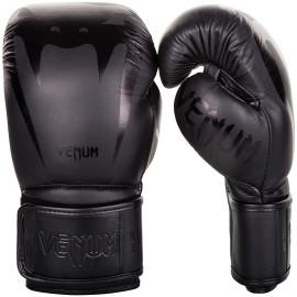 Boxerské rukavice VENUM GIANT 3.0 kůže - černo/černé