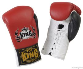 Boxerské rukavice se šněrováním Top King Pro 10oz - červená