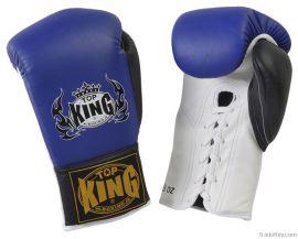 Boxerské rukavice se šněrováním Top King Pro 10oz - modrá