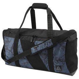 REEBOK Sportovní taška COMBAT GRIP - černo/modrá