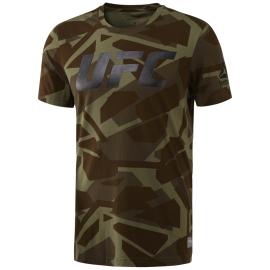 REEBOK Pánské tričko UFC FG SMASH - zelené