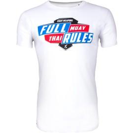 Pánské Muay Thai tričko 8 weapons FULL RULES - bílé