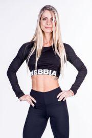 Nebbia CROP TOP 269 - černý