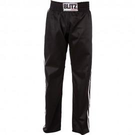 Polobavlněné kalhoty BLITZ FULL CONTACT - ČERNO/BÍLÉ