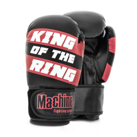Boxerské rukavice Machine King Of The Ring - černo/červené
