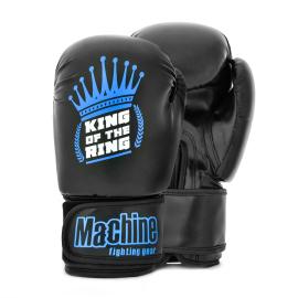 Boxerské rukavice Machine King Crown - černo/modré