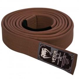 Prémiový BJJ pásek Venum - hnědý