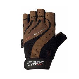 Fitness rukavice CHIBA Performer - hnědé