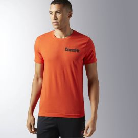 REEBOK Pánské tričko CROSSFIT ATHENA - oranžové