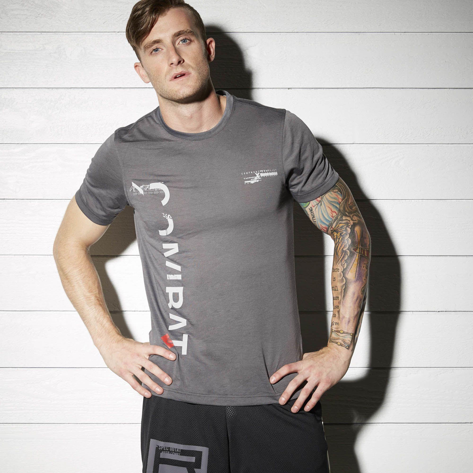REEBOK Pánské tričko COMBAT - šedé - FIGHTER-SHOP.CZ - Vybavení pro bojové  sporty 6ea0331374
